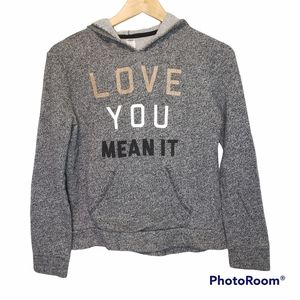 3 for $25 Old Navy Love You Grey Hoodie XL XS